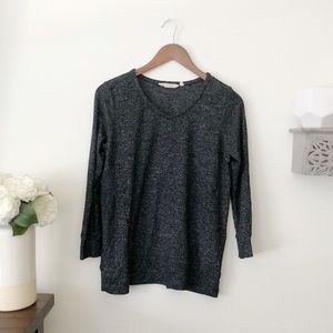 Soft Surroundings marled grey sweater top Small